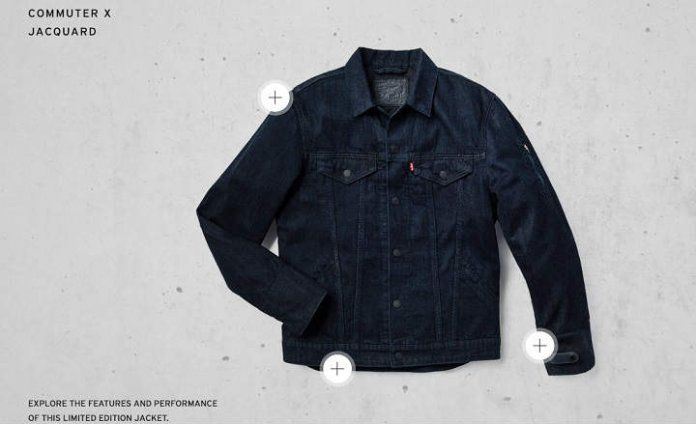 Levi's® Commuter™ Trucker Jacket with Jacquard™ by Google chaqueta vaquera smart